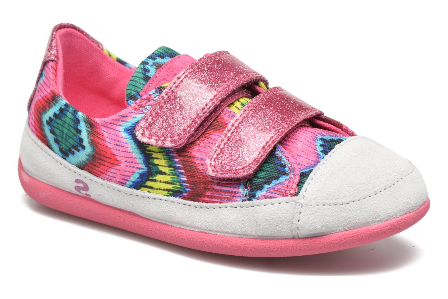 Chaussures à scratch Desigual SHOES_MINI HAPPY 2 Rose vue détail/paire